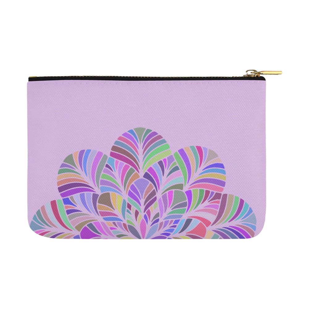 Dreamer Colors Mandala Pink Canvas Carry-All Pouch 12.5''x8.5'' - I Am A Dreamer