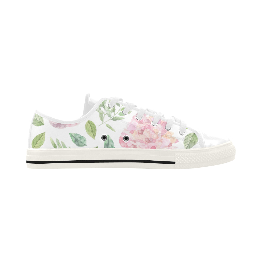 Floral Theme White Aquila Action Leather Women's Shoes - I Am A Dreamer