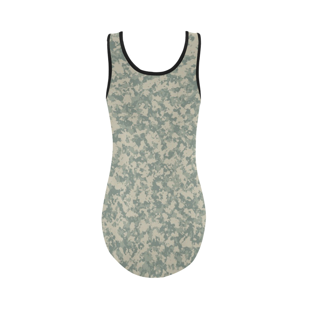 Camouflage Universal Vest One Piece Swimsuit - I Am A Dreamer