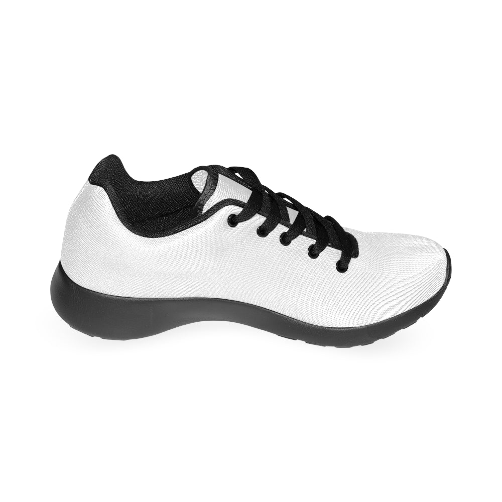 Black and White Fashion Women's Running Sport Shoes