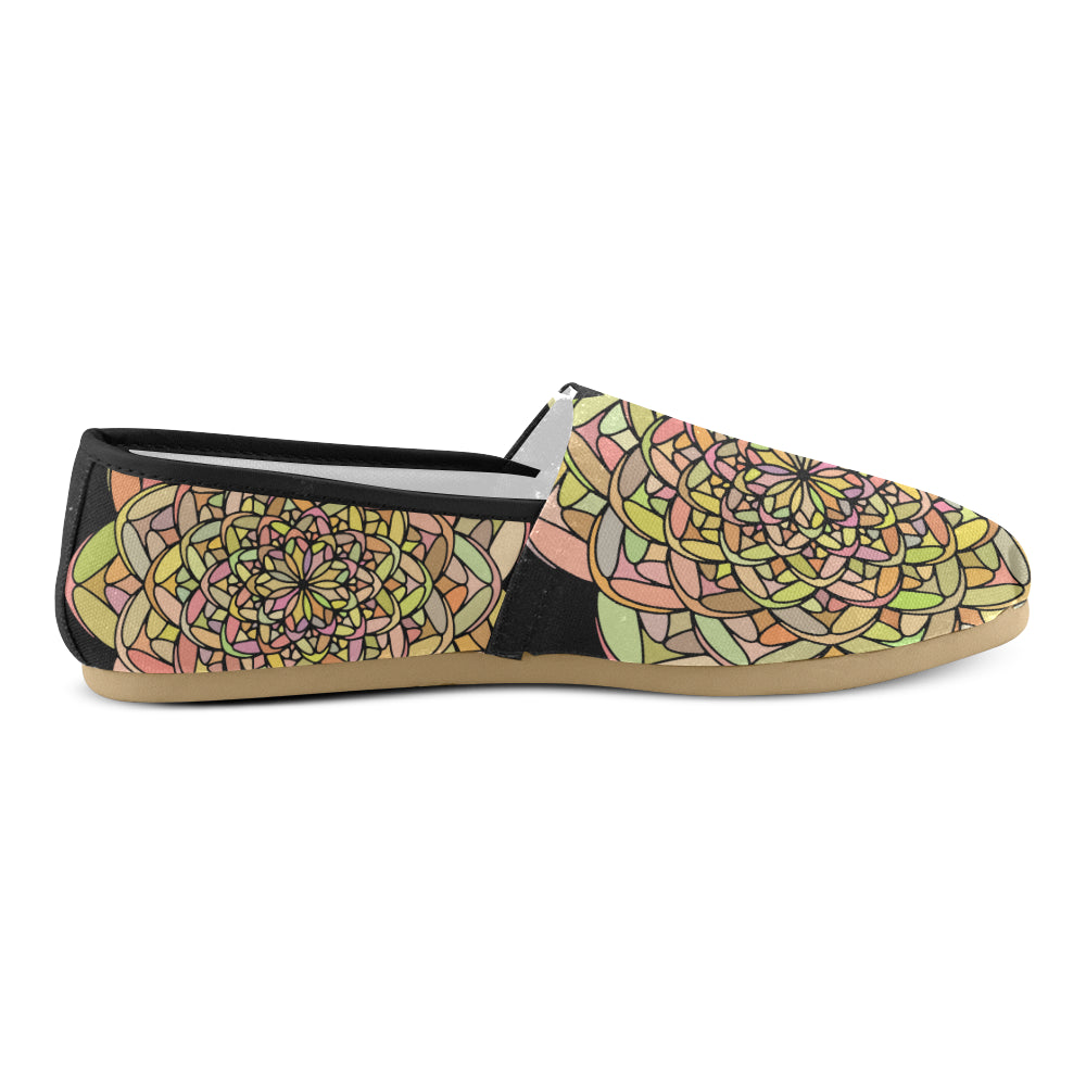 Yellow Colors Floral Mandala Women's Casual Shoes - I Am A Dreamer