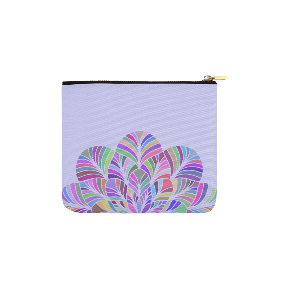 Dreamer Colors Mandala Purple Canvas Carry-All Pouch 6''x5'' - I Am A Dreamer