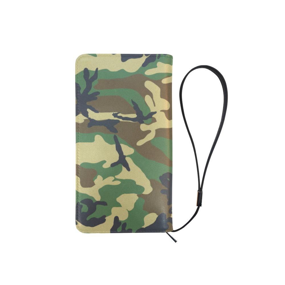 Camo Green Dark Gray Dreamer Men's Clutch Purse - I Am A Dreamer