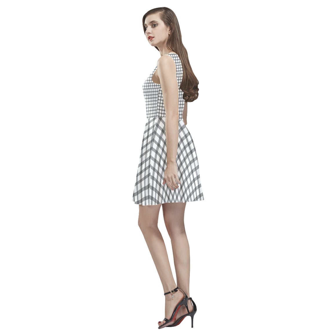 Mizo Black White Stripes Thea Sleeveless Skater Dress - I Am A Dreamer