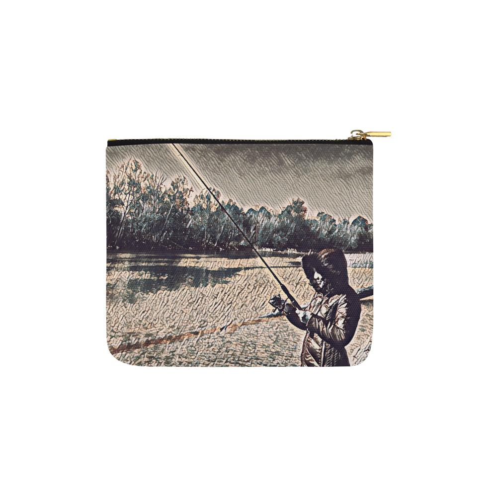 Levi Thang Fishing Design 20 Carry-All Pouch 6''x5'' - I Am A Dreamer