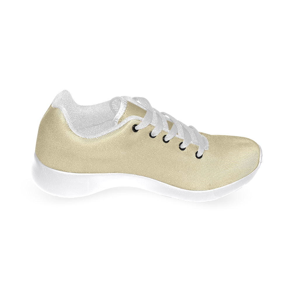 Gold Canvas White Fashion Women's Running Sport Shoes