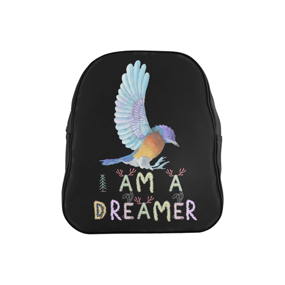 I Am A Dreamer Landing Bird Children School Backpack