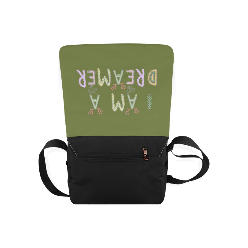 I Am A Dreamer Safari Dark Green Messenger Bag - I Am A Dreamer