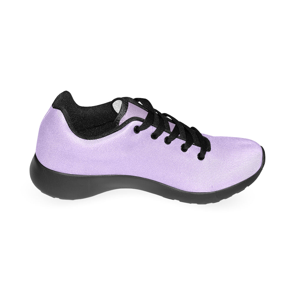 Purple Color Black Canvas Women's Running Shoes