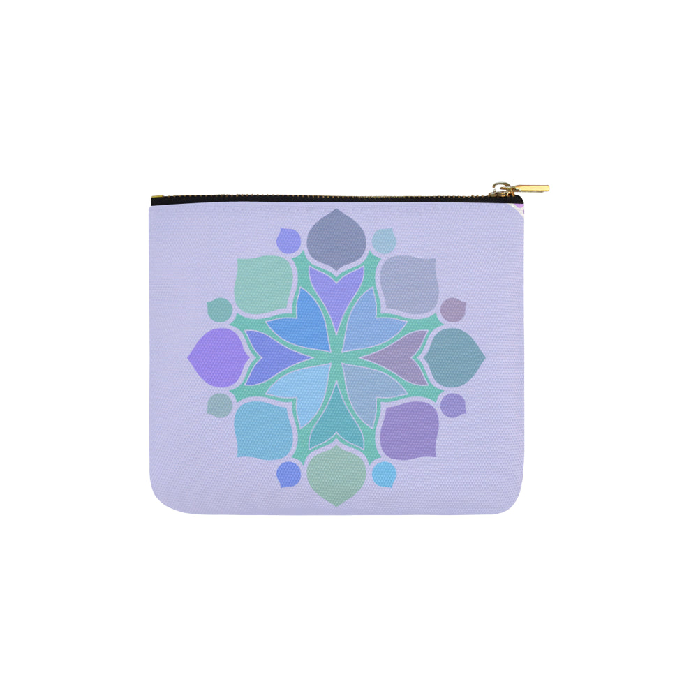 Cross Mandala Elegant Purple Carry-All Pouch 6''x5'' - I Am A Dreamer