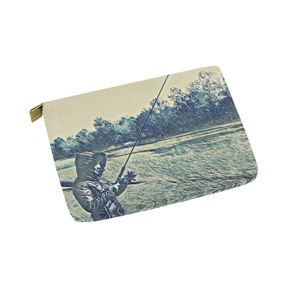 Levi Thang Fishing Design 5 Carry-All Pouch 8''x 6'' - I Am A Dreamer