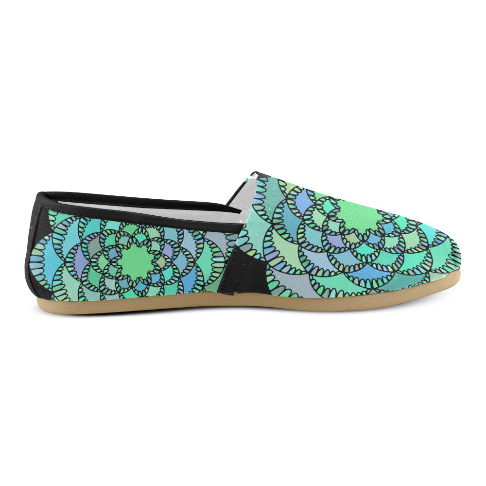 Green Colors Floral Mandalay Women's Casual Shoes - I Am A Dreamer