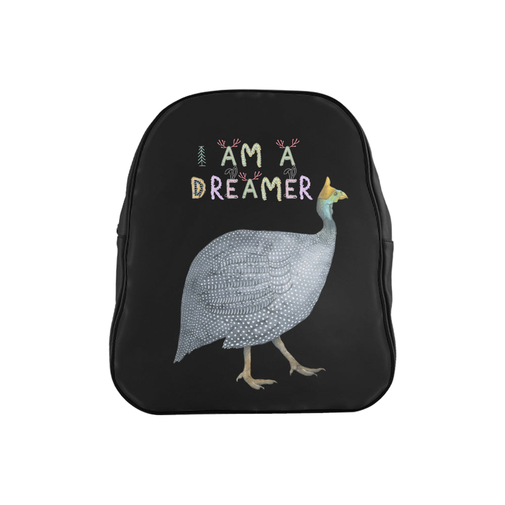 I Am A Dreamer Gray Bird Children School Backpack - I Am A Dreamer