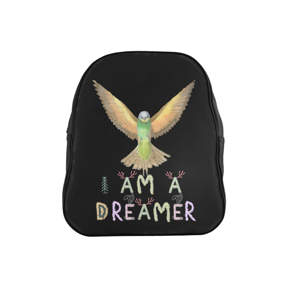 I Am A Dreamer Flying Bird Children School Backpack - I Am A Dreamer