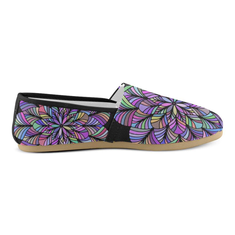 Purple Colors Floral Mandala Women's Casual Shoes - I Am A Dreamer
