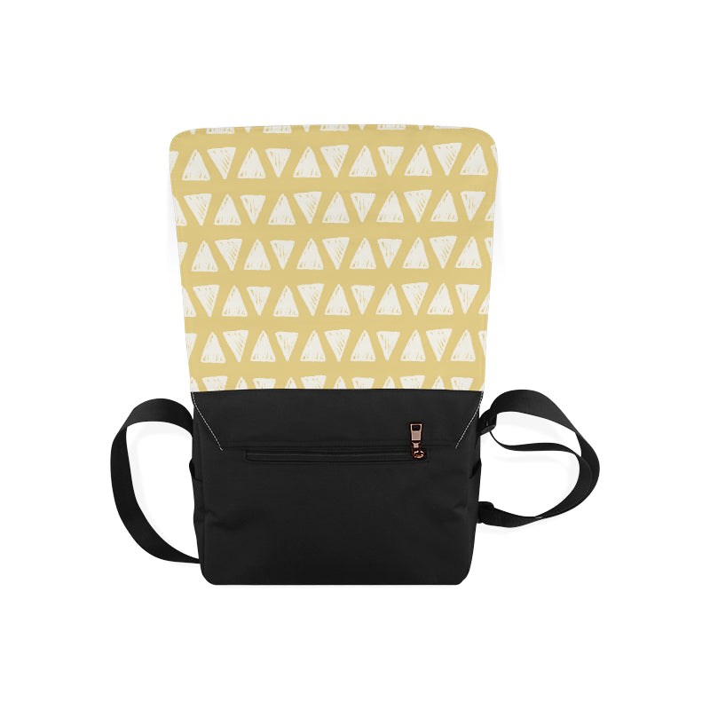 Yellow Triangle Fashion Messenger Bag - I Am A Dreamer