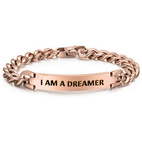 I Am A Dreamer Gold 316L Stainless Steel Bracelet Jewelry - I Am A Dreamer