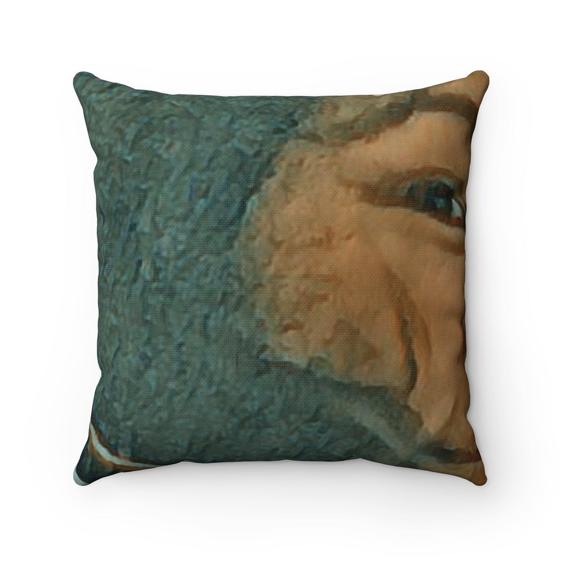 Levi Thang Vintage Face Design H Spun Polyester Square Pillow Case