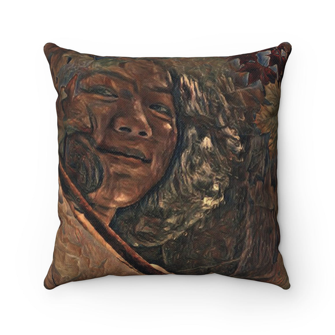 Levi Thang Vintage Face Design Q Spun Polyester Square Pillow Case