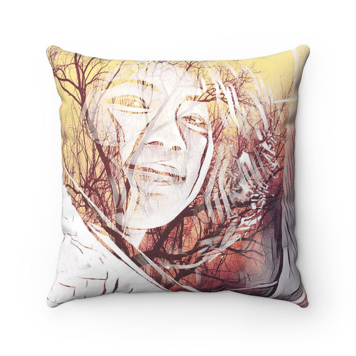 Levi Thang Vintage Face Design S Spun Polyester Square Pillow Case