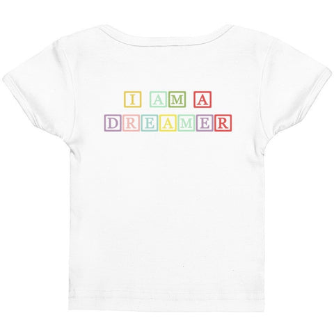 I Am A Dreamer Block Letters Infant Baby Rib Tee - I Am A Dreamer