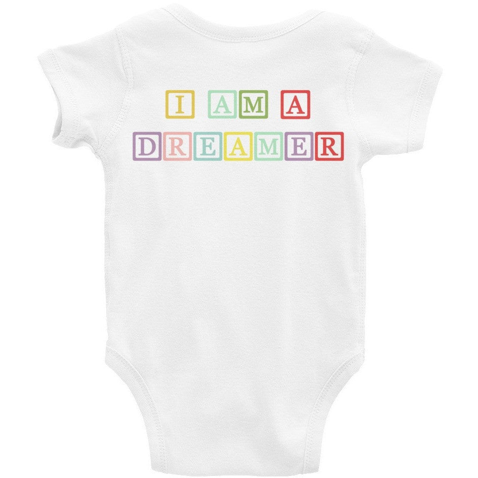 I Am A Dreamer Block Colors Infant Baby Rib Bodysuit - I Am A Dreamer