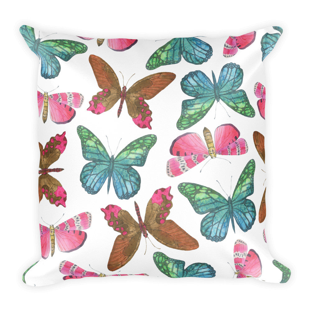 I Am A Dreamer Safari Theme Butterflies Throw Pillow - I Am A Dreamer