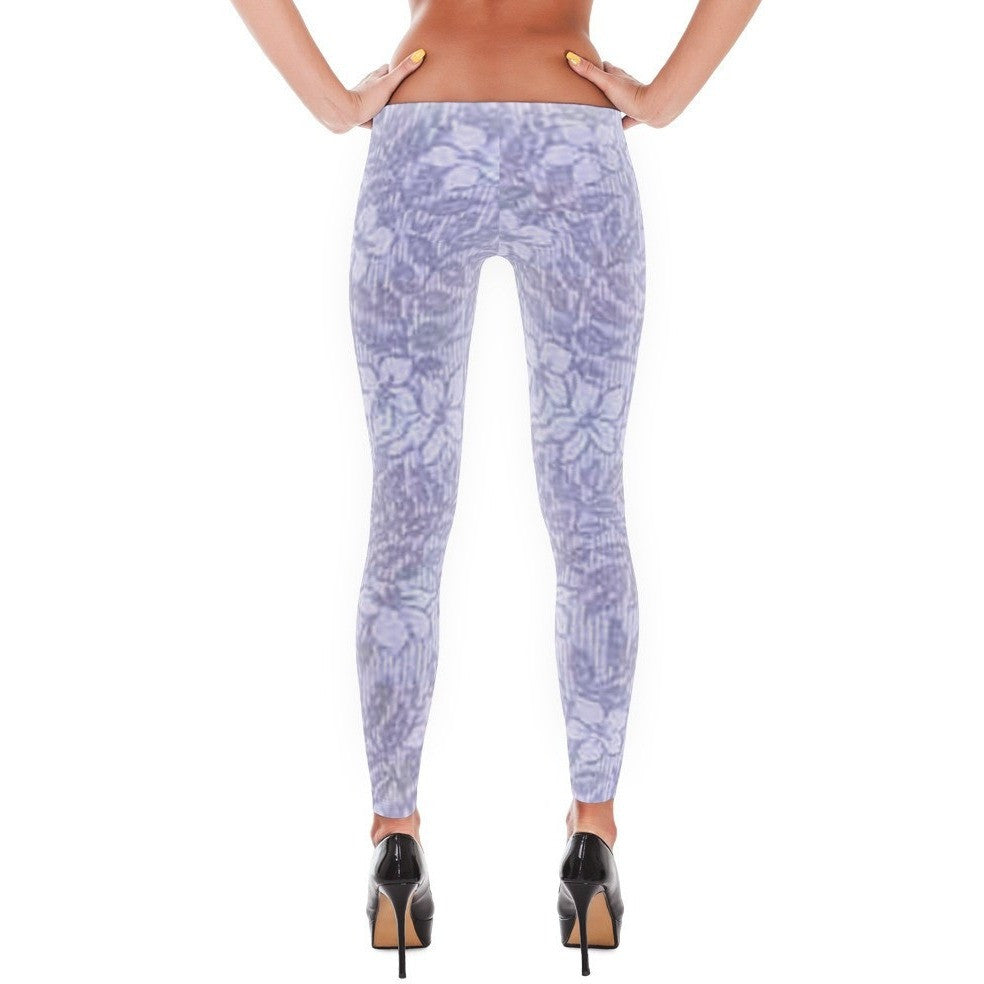 I Am A Dreamer Leggings Vintage Fashion 1888 Purple Flowers - I Am A Dreamer