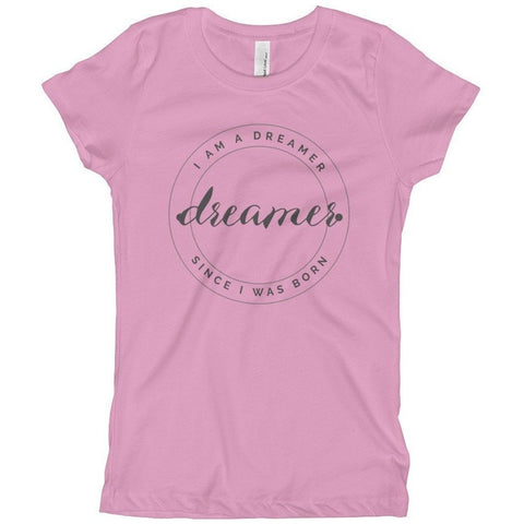 Sale -  I Am A Dreamer Since I was Born Round logo Girl's T-Shirt- I Am A Dreamer