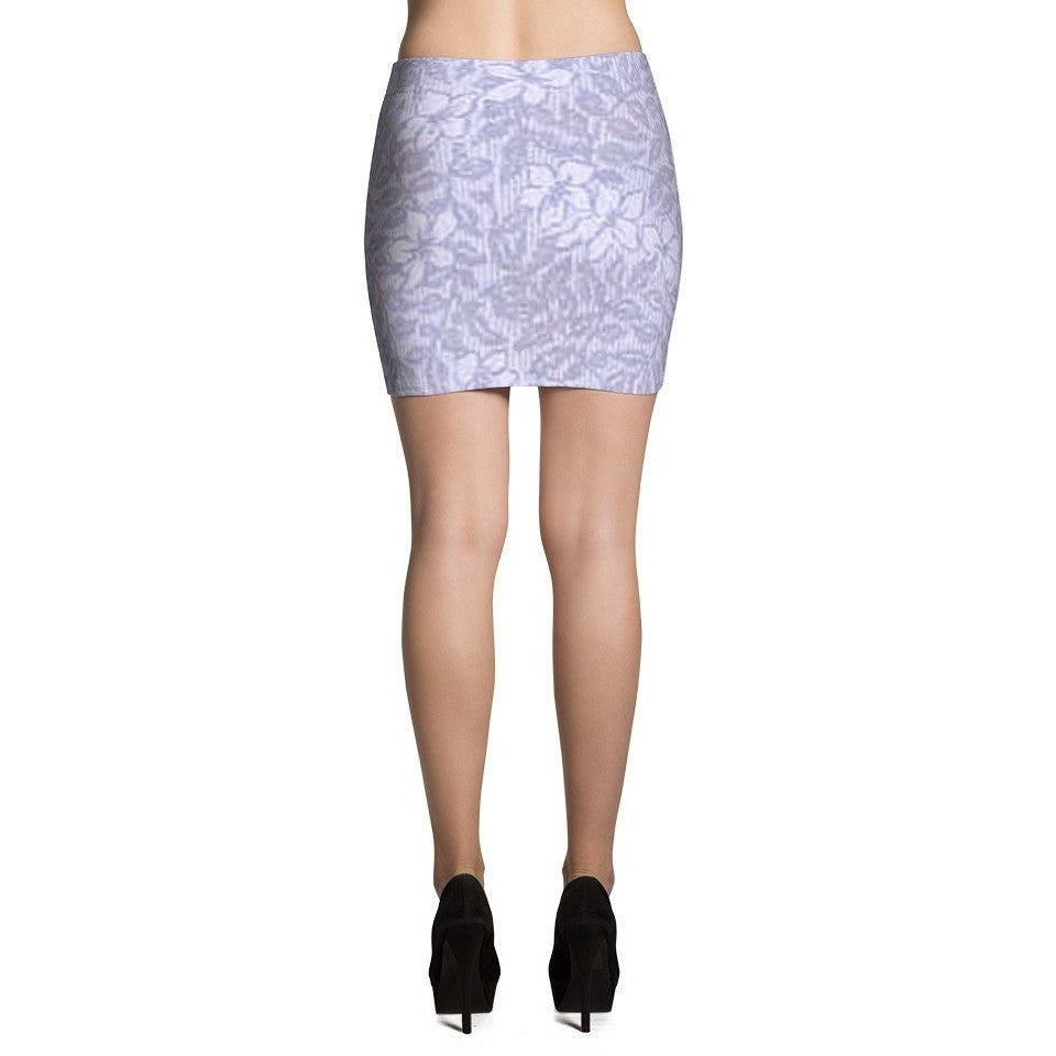 I Am A Dreamer Mini Skirts 1888 Purple Flowers - I Am A Dreamer