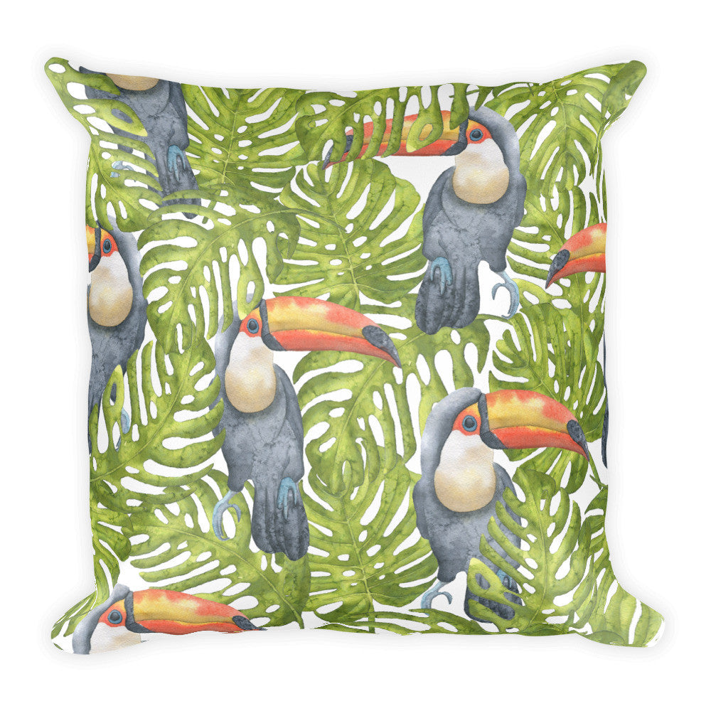 I Am A Dreamer Safari Theme Hornbills Throw Pillow - I Am A Dreamer