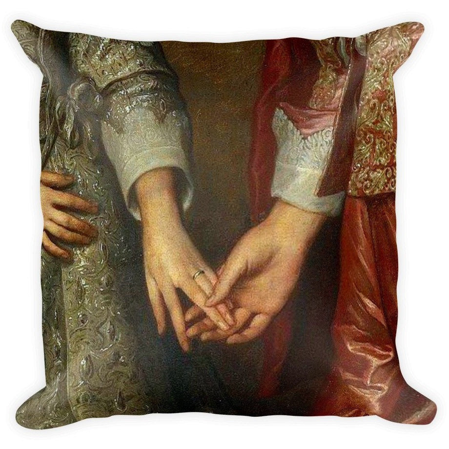 I Am A Dreamer Romantic Vintage Fashion 1700 Throw Pillow - I Am A Dreamer