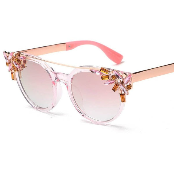 Dreamer Fashion Crystal Decoration Cat Eye Twin Beam Butterfly Sunglasses - I Am A Dreamer