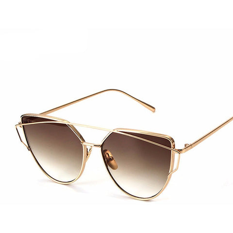 Vintage Fashion Cat Eyes Woman Double-Deck Alloy Frame Sunglasses - I Am A Dreamer