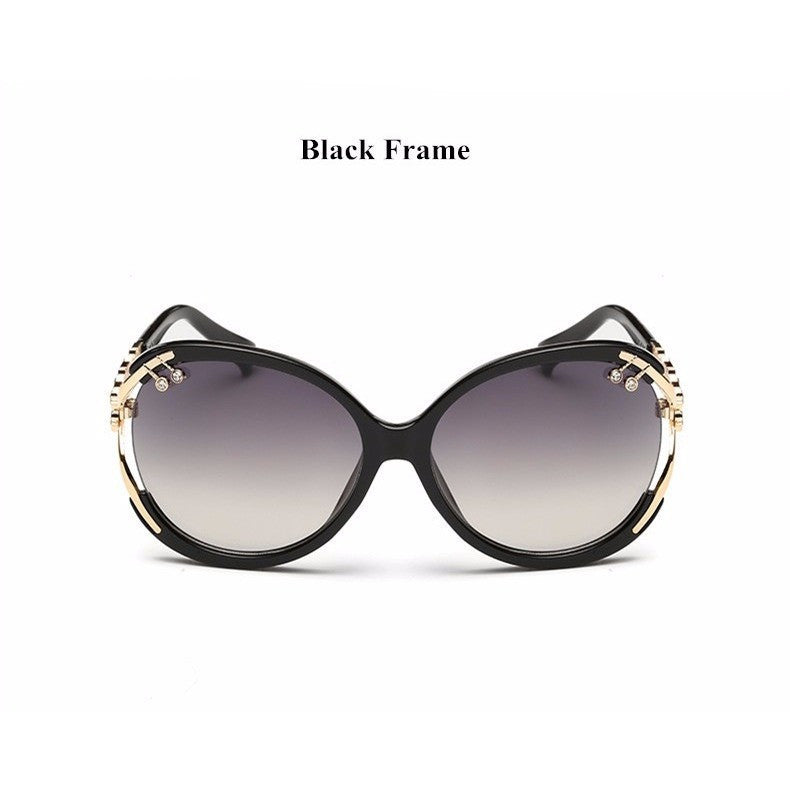 Vintage Fashion Crystal Frame Retro Oversize Sunglasses - I Am A Dreamer