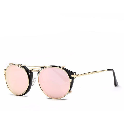 Vintage Fashion Retro Double Flip Punk Clip On Unisex Sunglasses - I Am A Dreamer