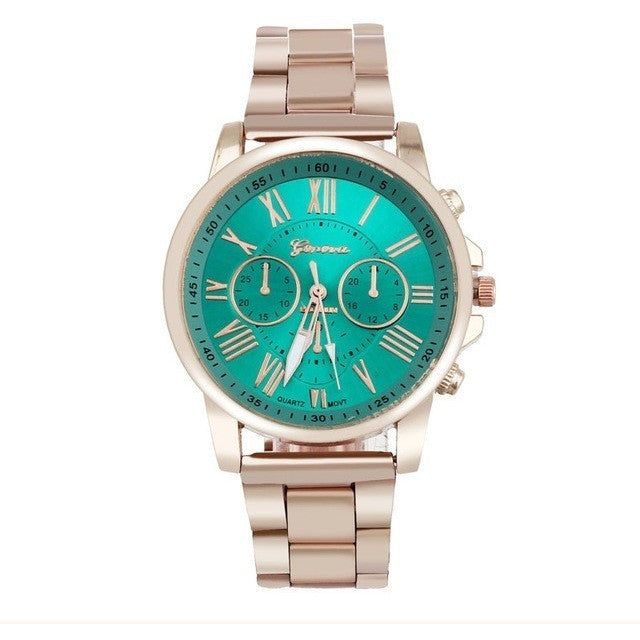 Elegant Stylish Fashion Roman Numberals Stainless Steel Band Unisex Watch - I Am A Dreamer