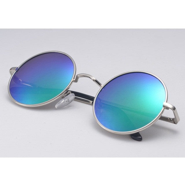 Vintage Retro Mirror Coating Fashion Polarized Round Unisex Sunglasses - I Am A Dreamer