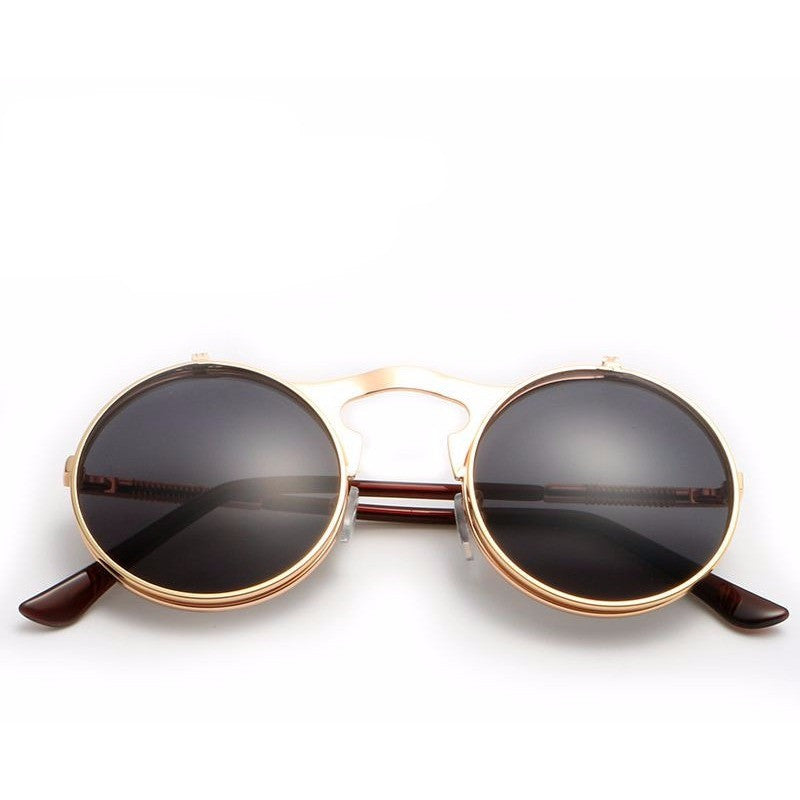 Vintage Fashion Steampunk Round Metal Retro Circle Sunglasses - I Am A Dreamer