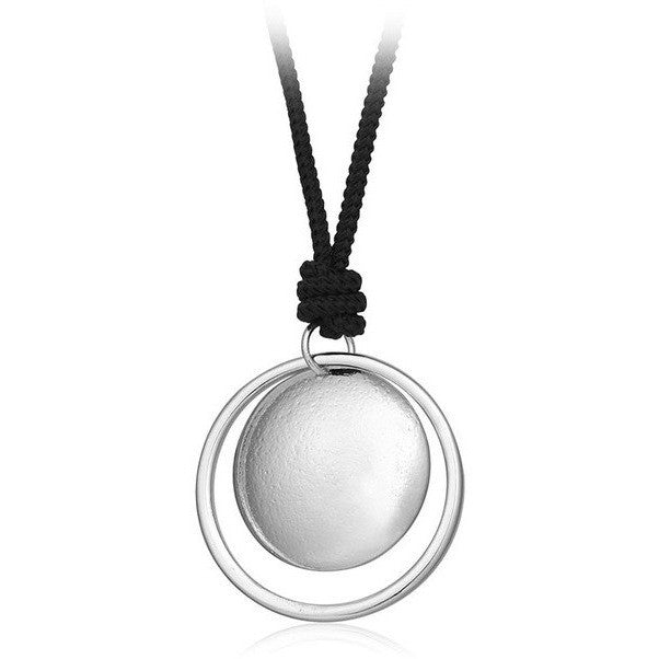 Simple Silver Gold Double Round Wafer Pendant Unisex Fashion Necklace - I Am A Dreamer