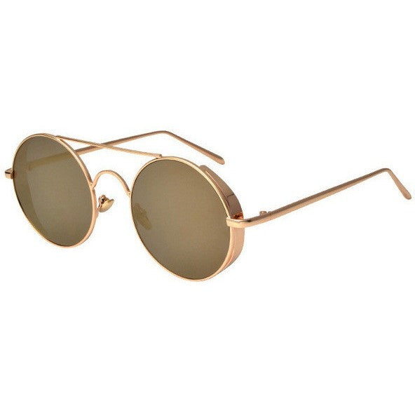 Vintage Fashion Metal Frame Steampunk Round Sunglasses - I Am A Dreamer