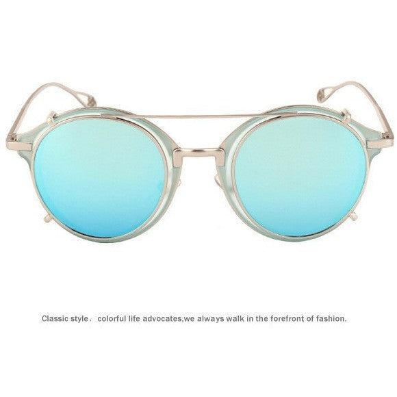 Vintage Fashion Round Glasses Frame Flip Separable Lens Steampunk Sunglasses - I Am A Dreamer