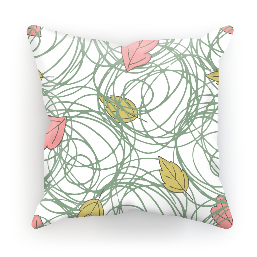 Color Leaves Theme White Base Throw Pillow - I Am A Dreamer