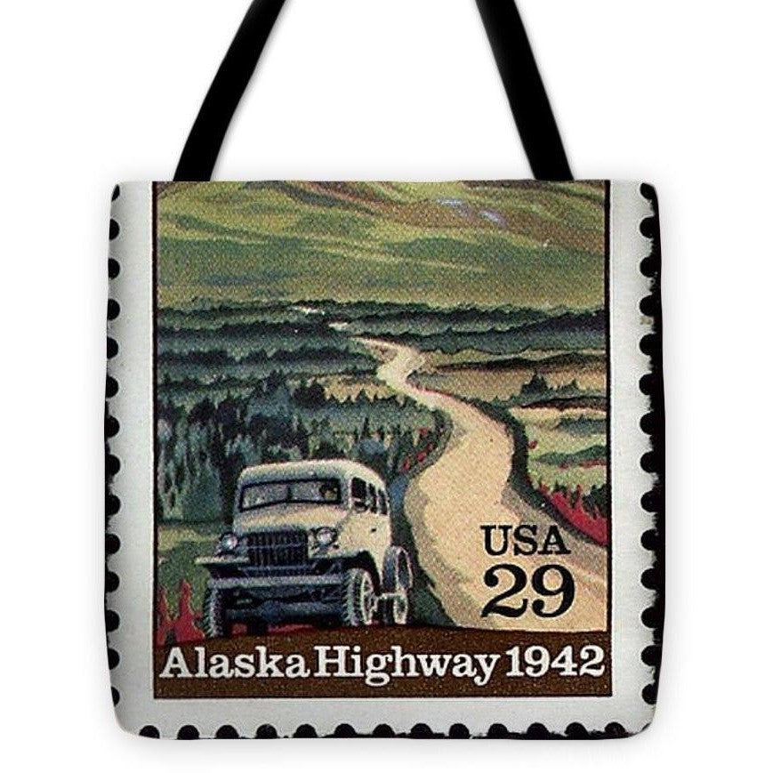 US Postage Stamp Alaska Highway 1942 USA 29 Cent Vintage Tote Bag - I Am A Dreamer