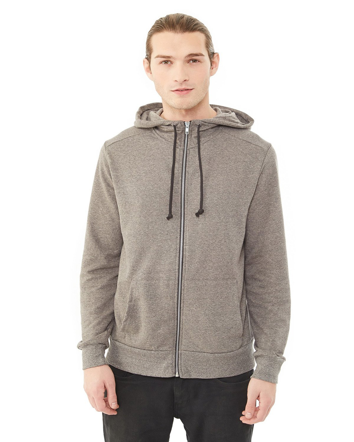 Alternative Apparel - 09880E - Men's Champ Eco-Mock Twist Ringer Sweatshirt