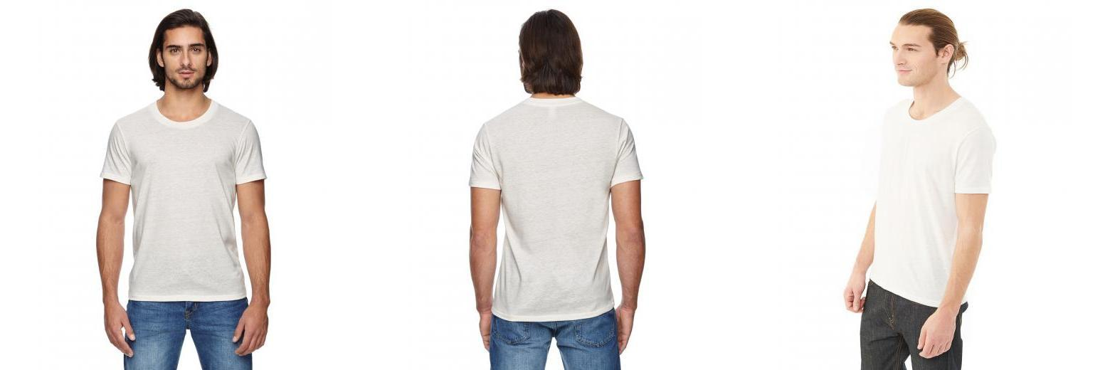 Alternative Apparel - 01993E1 - Men's Eco Jersey Triblend Drop Neck Crew T-Shirt