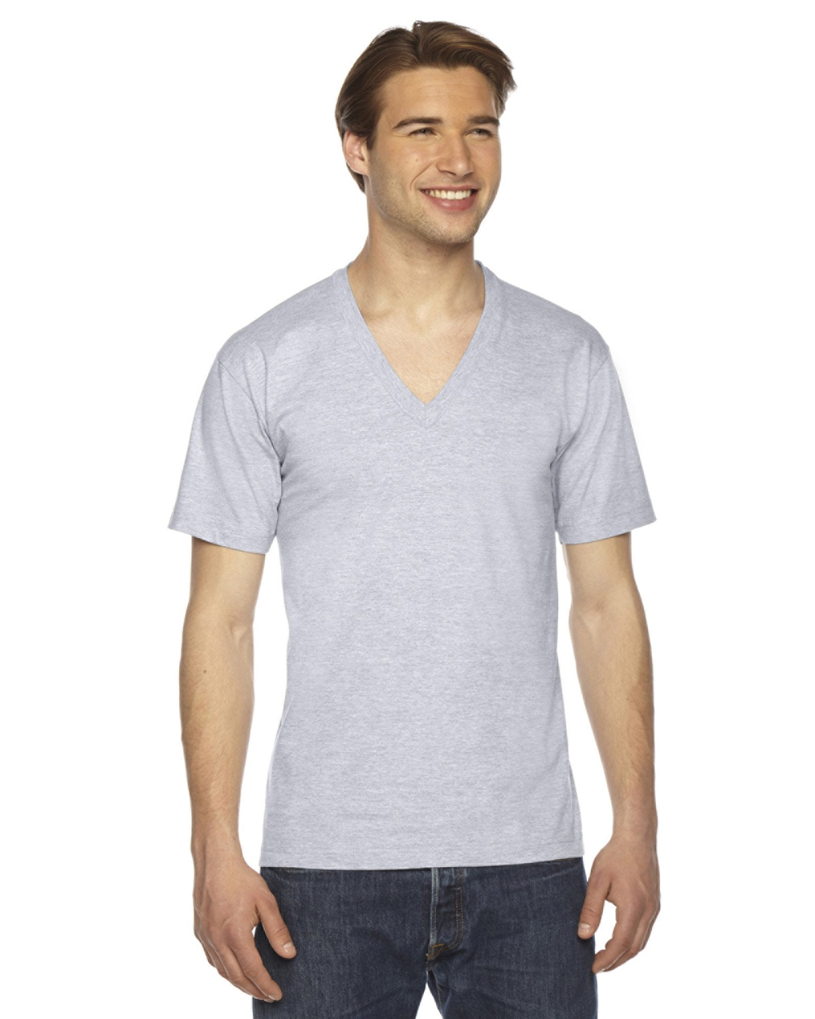 American Apparel - 2456 - Unisex Fine Jersey Short-Sleeve V-Neck