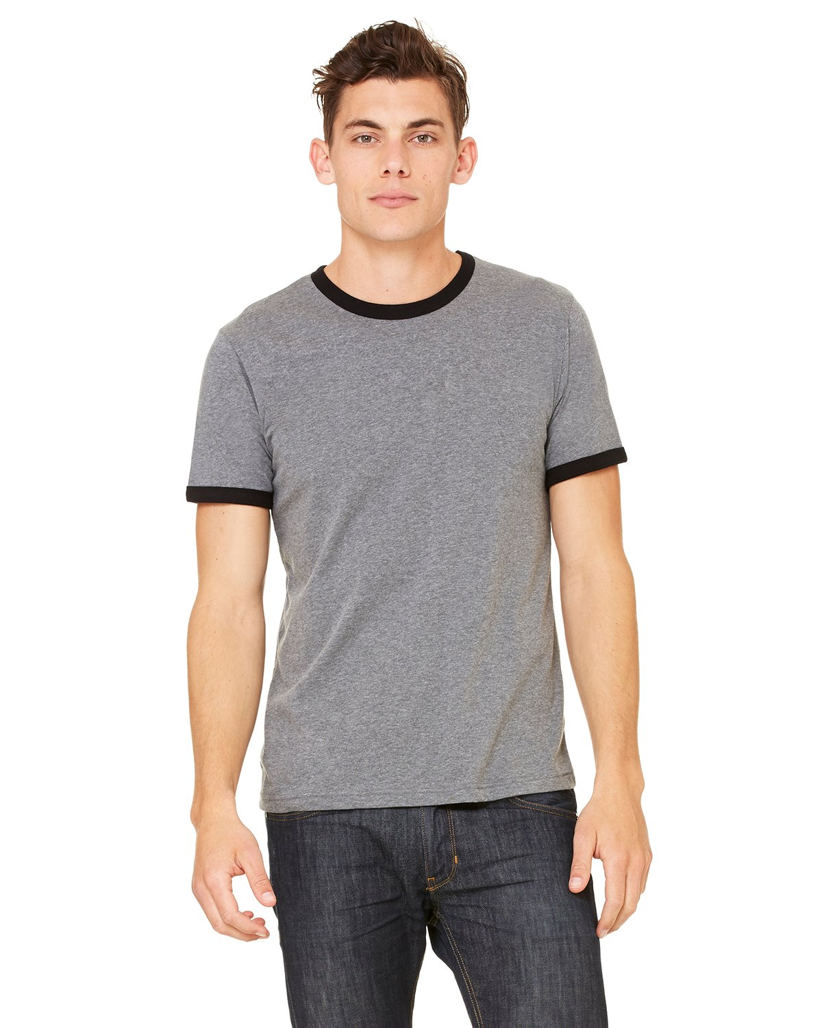 Bella + Canvas - 3055C - Men's Jersey Short-Sleeve Ringer T-Shirt
