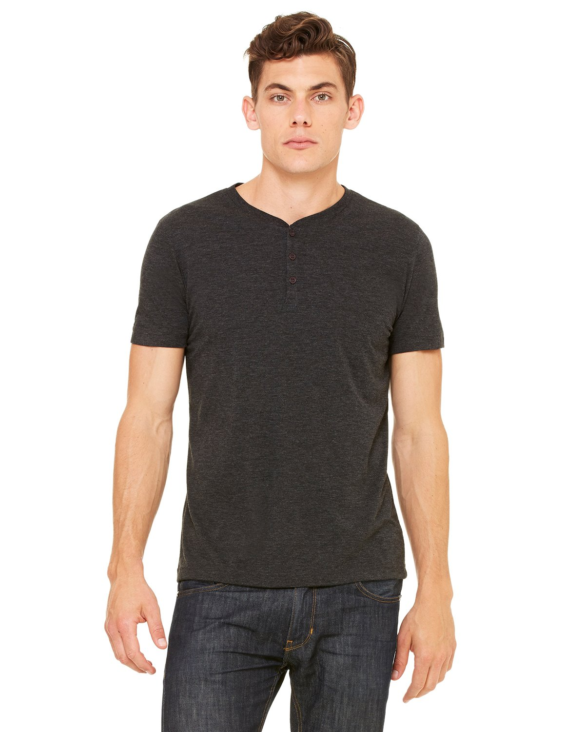Bella + Canvas - 3125 - Men's Triblend Short-Sleeve Henley