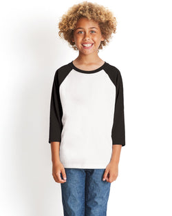 Next Level - 3352 - Youth CVC 3/4-Sleeve Raglan